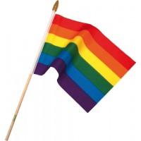 Prideflagg på pinne