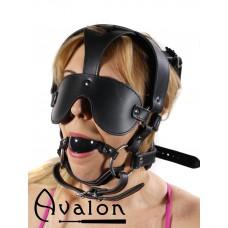 Avalon - TREASON - Hodeharness i lær med gag og blindfold