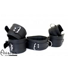Avalon - EXILE - Cuffs og Collar sett Svart