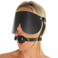 Ball gag med øyemaske