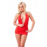 Amorable - Halterneck minikjole, rød