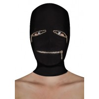 Ouch! Extreme zipper mask - maske med glidelås sort