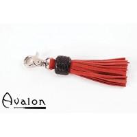 Avalon - Kort nøkkelringflogger, rød