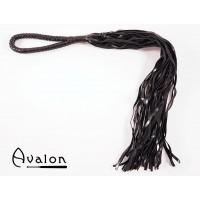 Avalon - Sort flogger med loop lærhåndtak