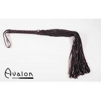 Avalon - Sort flogger i mykt lær
