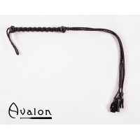 Avalon - Sort flogger med lærdusk