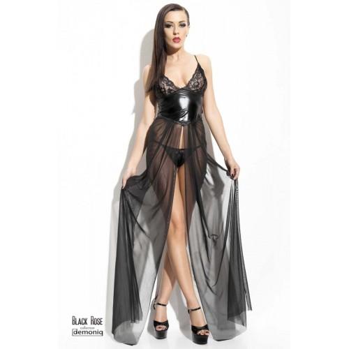 Demoniq - Anastasia - Kjole med Blonder og Wetlook