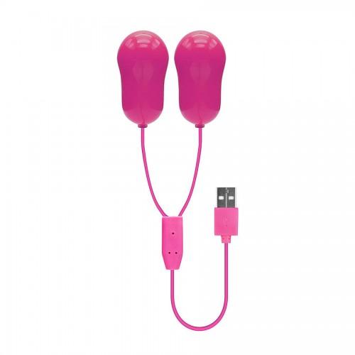 Squirt Team - 2 Vibrerende egg rosa - USB-drevet
