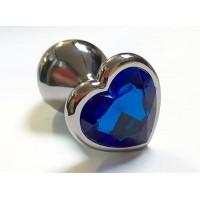 BQS - Buttplug med Hjertekrystall Blå