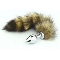 BQS - Foxtail - Hale med Buttplug i Metall