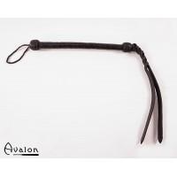 Avalon - Sort flettet Pisk med bøybar tupp