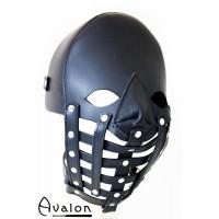 Avalon - Maske i lær med gitter
