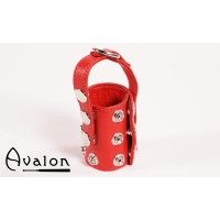 Avalon - Ballestrekker i lær med D-ring Rød