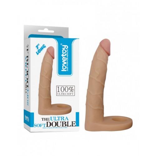 "Lovetoys - The ultra soft double 7"" dildo"