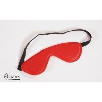 Avalon - Rødt Blindfold med polstring