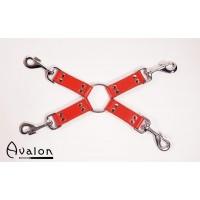 Avalon - Rødt Hog-tie-sett med 4 deler