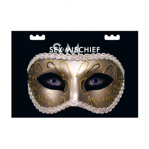 Grey Masquerade maske